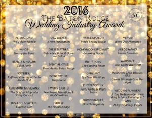 2016 The Baton Rouge Wedding Industry Awards