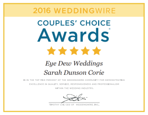 WeddingWire.com 2016 Couples' Choice Award